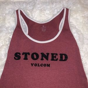 """🤎 """"Stoned"""" Volcom tank top size Small"""